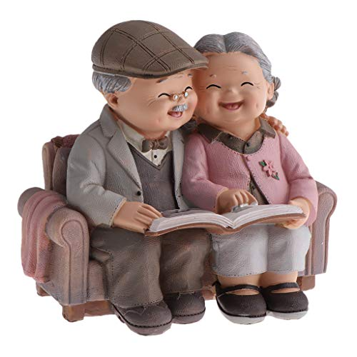 LOVIVER Familien Gartenfigur für Miniaturblumentopf Wohnkultur - Das Foto betrachten