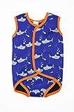 Splash About(スプラッシュアバウト) 体を冷やさない 紫外線対策万全 ベビーラップ ベビー キッズ 水着 UPF50 UVカット 日本正規品 (Mサイズ (6-18ヶ月), Shark Orange)