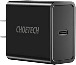 CHOETECH USB C Charger, 18W Type-C Power Delivery Wall Charger Compatible with iPhone 11/11 Pro/11 Pro Max/X/XS/XS Max/XR,iPad Pro, Samsung Galaxy Note 10 Plus/Note 10/Note 9,Google Pixel 3/3 XL