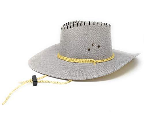 R&F srl Cappello da Cowboy in Tela Grigio