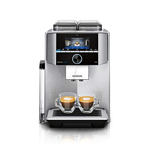 Siemens TI9578X1DE EQ.9 plus connect s700 Kaffeevollautomat Personalisierung, 2 Bohnenbehälter, Mahlwerke, extra leise, 1.500 Watt, Edelstahl