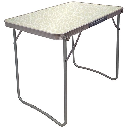 Crystals Portable Folding Table for Indoor Outdoor Picnic Party Dining Camping Accessories | 5076-WHITE