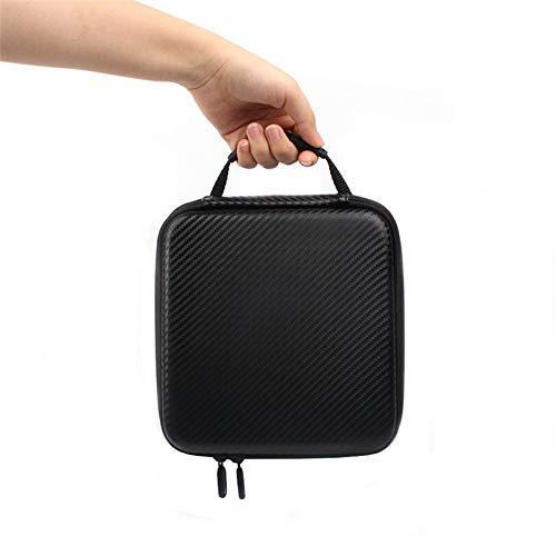 HONG YI-HAT HongYi Caja for el dji Spark Doble Cubierta del Bolso de la PU Impermeable 228 * 205 * 118 mm Bolsa de Aviones no tripulados dji Spark Estuche de Transporte (Color : Black)