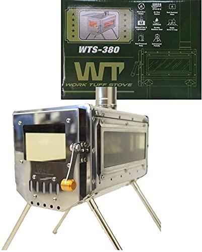 ワーク タフ ストーブ WTS380 両面ガラス窓モデル work tuff stove 380 TST 【国内正規品】本体セット 小型・軽量薪ストーブ 薪ストーブ 熱・錆に強いステンレス製 コンパクトに折りたたみ収納 耐熱ガラス窓付 暖炉