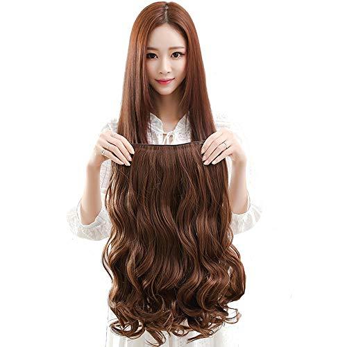 C-JT Jolie, Brown Lace Front Wigs, résistant à la chaleur perruque, court Wavy perruque de cheveux synthétiques, épais Invisible No Trace Big Wave Extension perruque de cheveux, for les femmes perruqu
