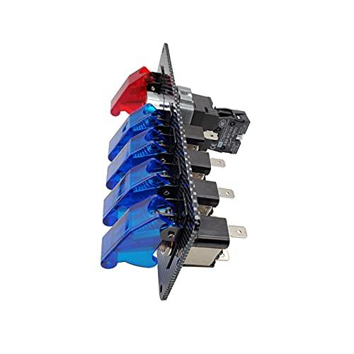 JIAQING Panel de Interruptor de Encendido de 12V LED para Carreras de automóvil Motor de Arranque Pulsador de pulsador LED Starter Toggle Panel