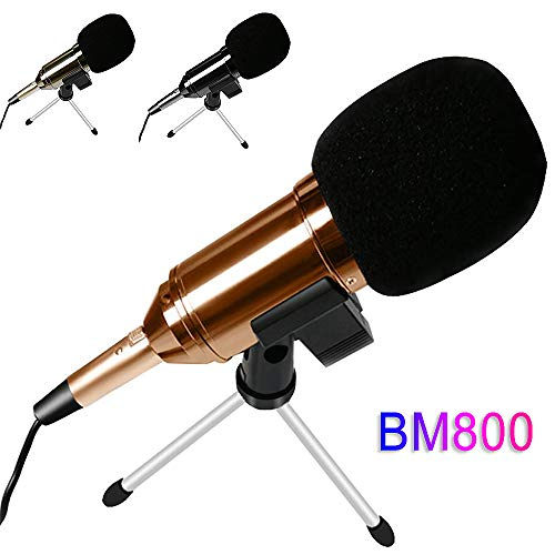 BUY-TO USB condensatormicrofoon met statief voor Computer Studio YouTube Mic Podcast BM 800