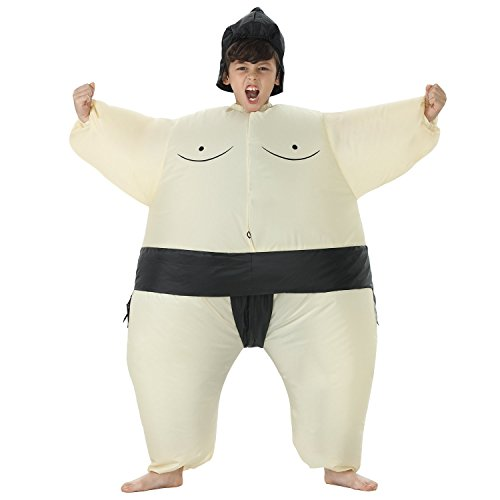 TOLOCO Inflatable Kids Sumo Wrestler Wrestling Suits Halloween Costume, One Size Fits Most