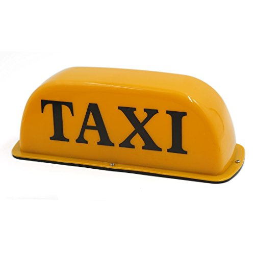 BARGAIN HOUSE Waterproof Magnet Yellow Car Taxi Cab Roof Top Light Indicator Lamp
