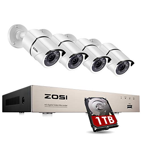 ZOSI 8CH 1080P Home Security Camera System Outdoor...