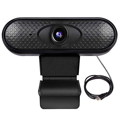 Webcam,Guiseapue Webcam Portátil full HD 1080P con Micrófono,USB Webcam,Para la enseñanza en Línea Juegos Conferencias Trabajo Conferencias