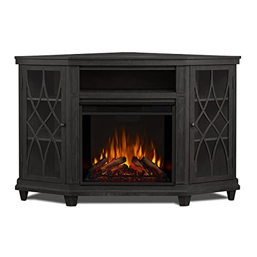 Real Flame Lynette Electric Fireplace TV Stand with Remote Control, Corner Unit,...