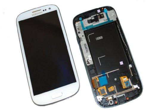 Samsung I9300 Galaxy S3 LCD Touch Screen Display Glas Rahmen White Original Neu
