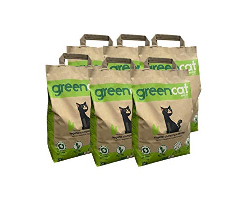 Greencat lettiera per Gatti a Base d'orzo (6 x 6 Litri) Tot. 14,40 kg