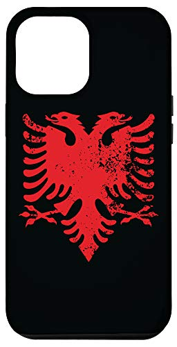 iPhone 12 Pro Max Albanian Patriotic Red & Black Albania Flag Eagle Case