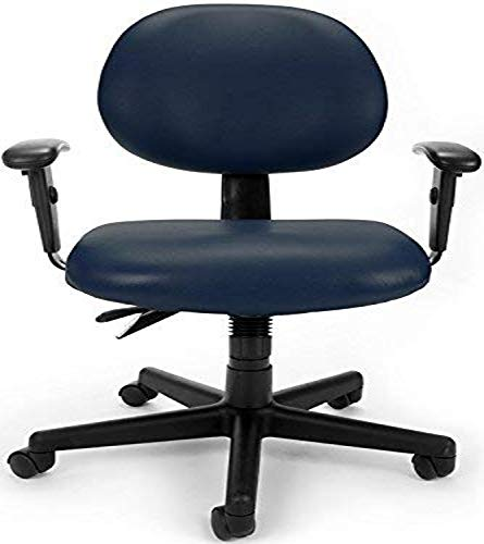 OFM 24 Hour Ergonomic Task Chair with Arms, Mid Back, in Navy (241-VAM-AA-605)
