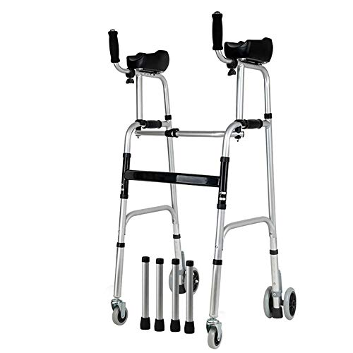 ASDFGHJKL Gehwagen Für Senioren/Faltbar Verstellbare Gehrahmen Mit Vorderrädern Für Senioren/Gehhilfe Mit Festen Rädern,C