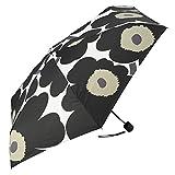 marimekko (マリメッコ) 折りたたみ傘 ホワイト ブラック 16.5x5x5cm 並行輸入品
