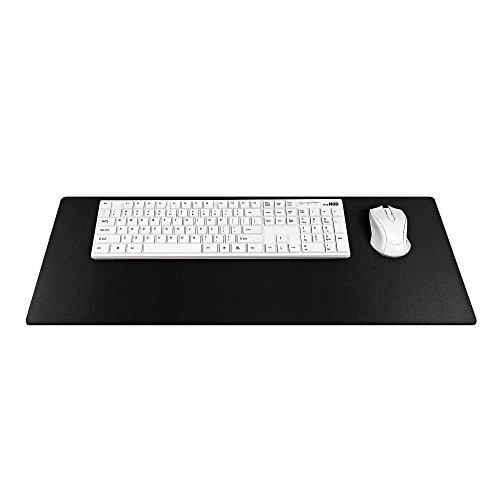 Ergonomisches Mauspad für Gaming-Maus, rutschfest, groß, 700 x 300 x 2 mm / Schwarz / mit schwarzer Naht