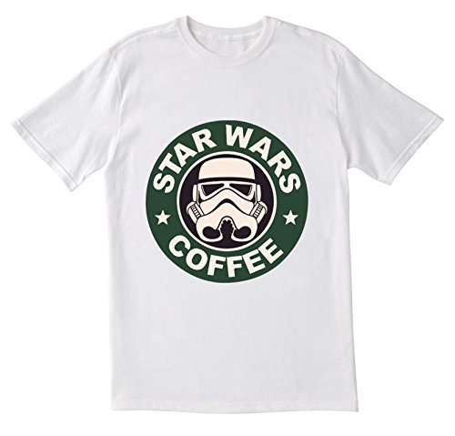 Star Wars, Star Wars inspiriert, Starbucks Design GPO Group Exclsuive, Star Wars/Starbucks, Tshirt, Unisex-T-Shirt, Casual T Shirt Gr. Medium, weiß