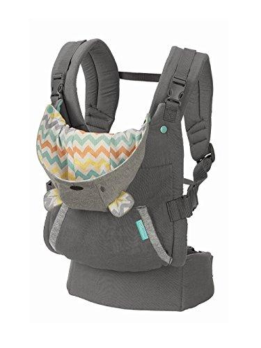 Infantino Cuddle Up Ergonomic Hoodie Baby Carrier, Grey