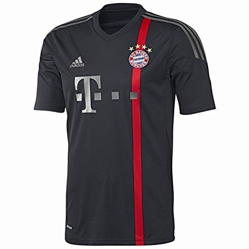 adidas Herren Spieler-Trikot FC Bayern München UCL Replica, black/red/iron grey S08/dark grey, XL, F48405
