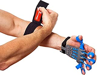 Clinically Fit Elbow Pain Relief Therapy Kit, Hand Strengthener Reverse Grip Training Device and Adjustable Elbow Brace Compression Strap for Tendonitis