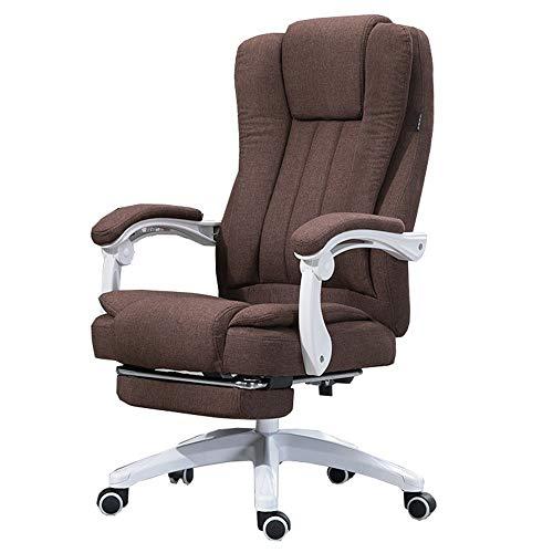 WHOJA Silla de Oficina con reposabrazos y reposapiés Silla operativa con Respaldo Alto Diseño de sillón reclinable de...