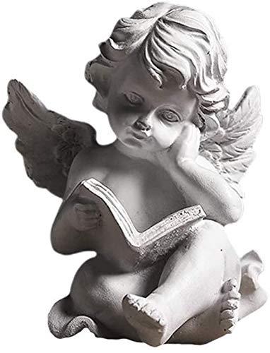JJDSN Estatua de ángel, estatuilla, Escultura, alas de querubín, Estatua de ángel, Figura de jardín, guardián, Estatua Conmemorativa para la decoración de la Mesa del hogar, Estilo 1
