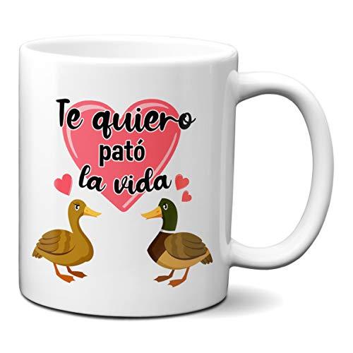 Planetacase Taza Te Quiero Pato La Vida - Taza Enamorados con Frase Te Quiero Pato La Vida Regalo Parejas 330 mL