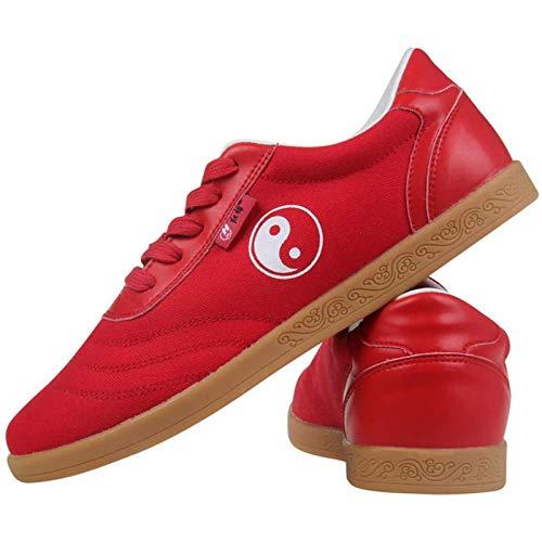 GHJUH Mujeres Tai Chi Arts Marcial Shoes Planeos sin Deslizamiento Planos Zapatos de Lona Kung Fu Boxeo Zapatos de Entrenamiento Unisex Fitness Caminar Calzado Deportivo