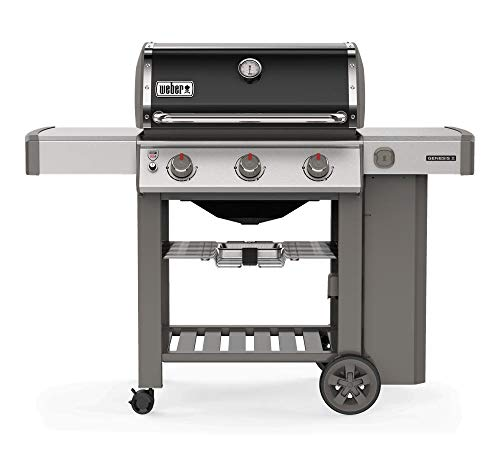 barbecue gas weber genesis Weber Barbecue a Gas da Giardino con Ripiani Laterali e Coperchio 61011129 E-310 GBS Genesis II