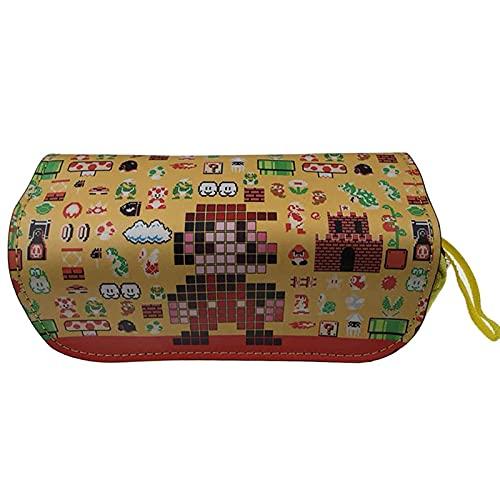 Mario Stationery Box Accesorios para juegos Super Mario Caja de papelería Super Mario de doble capa de gran capacidad con cremallera estuche de papelería Caja