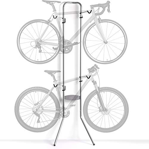 delta Cycle & Home Michelangelo Two-Bike Gravity Stand Silver, 86\' x 23.5\' x 13.75\'