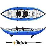 MIYUE Inflatable Kayak Set with Paddle & Air Pump, 2-Person Portable Recreational Touring Kayak, 10'×36.2'' Canoe Raft Kayaks for Adults and Kids Youth Kayak