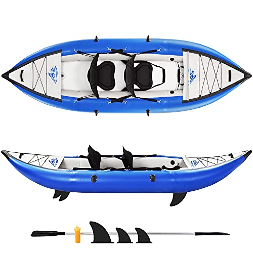 GIKPAL Inflatable Kayak Set with Paddle & Air Pump, 2-Person Portable...