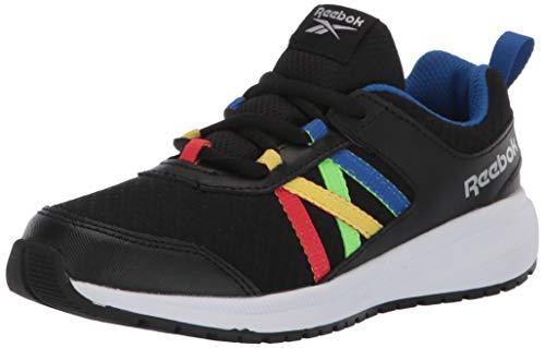 Reebok Boys Road Supreme Running Shoe, Black/Humble Blue/Radiant Red, 1 M US Little Kid