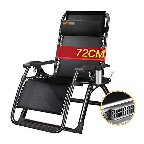 Liegestuhl Mittagspause Siesta Stuhl Startseite Faltbare Sessel Tragbare Gartenliege | Camping-Stuhl im Freien Maximale Belastung 150 kg (Color : No mat)