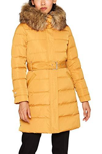 ESPRIT Damen 099Ee1G007 Mantel, Gelb (Amber Yellow 700), Small (Herstellergröße: S)