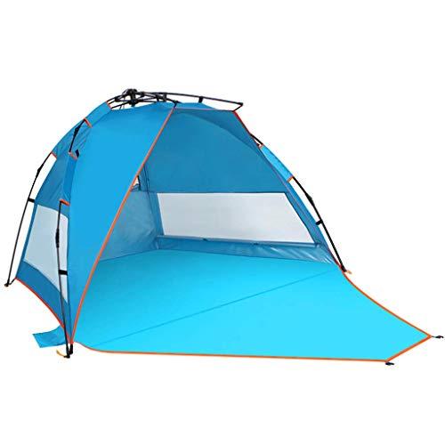 Busirsiz Tiendas de campaña tiendas de campaña Compatible with acampar Coleman tienda de la playa Tienda automática al aire libre parasol 3-4 personas anti-púrpura línea de alta velocidad portátil pro