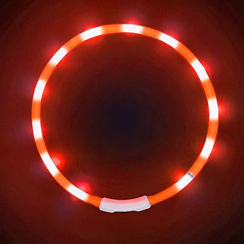LaROO LED Hundehalsband Blinkende Sicherheit Hundehalsband fr Hund und Katzen
