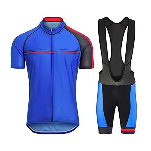 GHJL Trajes de Ciclismo de Equipo de montaña de Primavera y Verano para Hombres y Mujeres, Camisetas de Ciclismo de Manga Corta, Tirantes de Silicona con cojín 4XL C