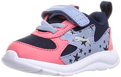 Puma Baby Mädchen Fun Racer Unicorn AC INF Sneaker, Peacoat Silver, 26 EU