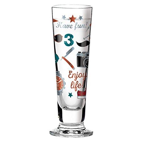 Ritzenhoff Black Label Schnapsglas, Kristallglas, Schwarz, Blau, Rot, Kupfer, 3.5 cm