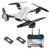 Goolsky SG700 Drone WiFi FPV 2.0MP Cámara Plegable 6-Axis Gyro Óptico Posicionamiento de Flujo Altitude Hold Sin Cabeza RC Quadcopter w /Dos Baterías