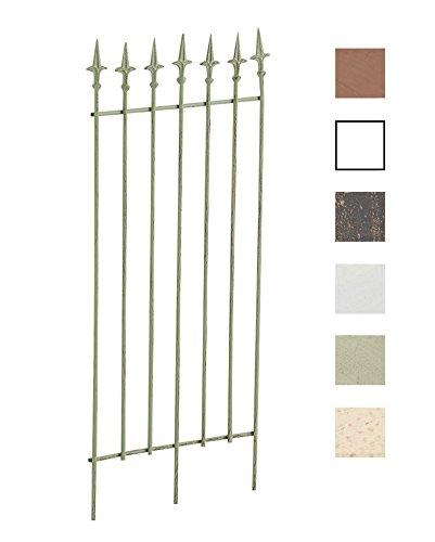 CLP Metall-Rankgitter Elisa I Größe: 100 x 50 cm, Stabstärke 0,7 cm I Rankhilfe für Kletterpflanzen I erhältlich, Farbe:antik-grün