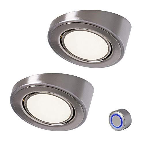 LED-spot Bobby Dim 2 x 3 W dimbaar 2.0 reflectoren voor plafonds schuine ring stijl roestvrij staal 554164