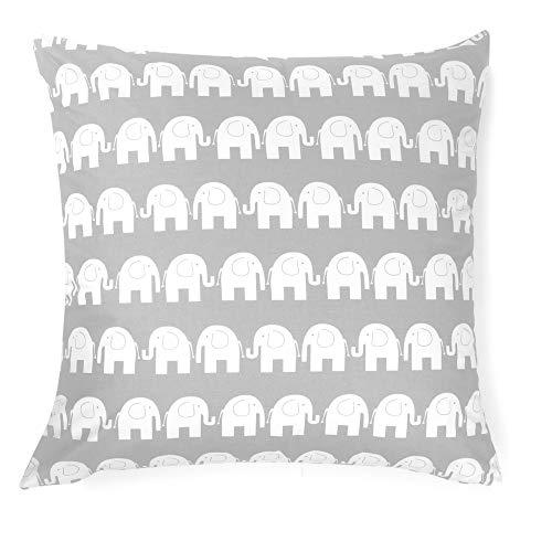 Cuscino decorativo federa cuscino 80cm x 80cm elefante grigio