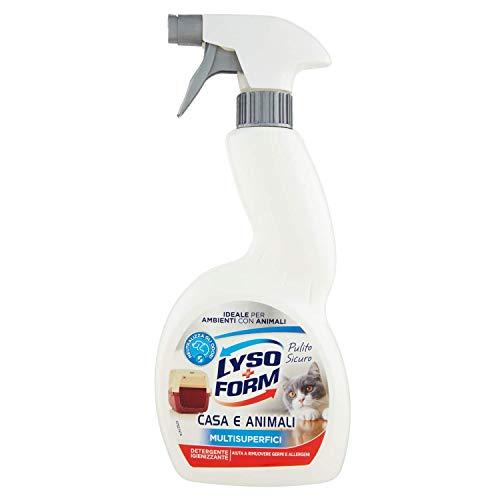 Lysoform Detergente Igienizzante per Superfici Abitate da Animali - 450 Ml, Superfici