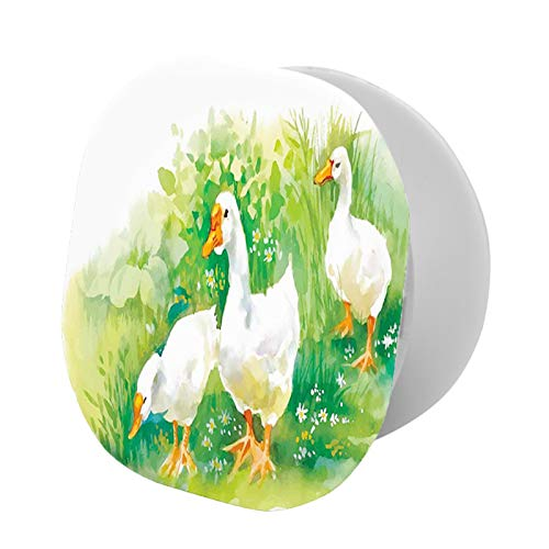 Adjustable Cell Phone Stand,Goose in Farm Lake Plants Grass Reeds Flowers Pond Animals Geese Feathers Life,Compatible with All phone